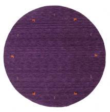 Gabbeh Loom Two Lines - Violetti Matto Ø 200 Moderni Pyöreä Tummanvioletti/Violetti (Villa, Intia)