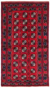 Beluch Matto 103X187 Itämainen Käsinsolmittu Tummanpunainen/Punainen/Tummanruskea (Villa, Afganistan)