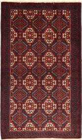 Beluch Matto 100X172 Itämainen Käsinsolmittu Tummanpunainen (Villa, Persia/Iran)