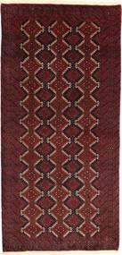 Beluch Matto 95X195 Itämainen Käsinsolmittu Tummanpunainen (Villa, Persia/Iran)