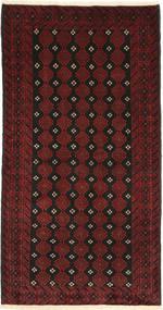 Beluch Matto 105X200 Itämainen Käsinsolmittu Tummanpunainen/Tummanruskea (Villa, Persia/Iran)