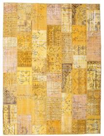 Patchwork Matto 273X366 Moderni Käsinsolmittu Tummanbeige/Vaaleanruskea Isot (Villa, Turkki)