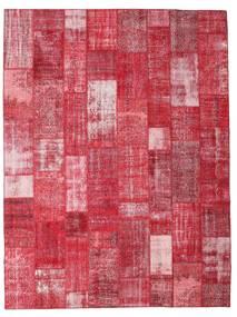 Patchwork Matto 303X402 Moderni Käsinsolmittu Punainen/Ruoste/Pinkki Isot (Villa, Turkki)