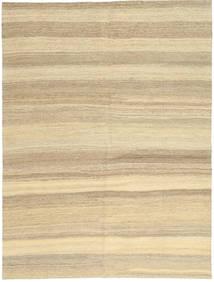 Kelim Moderni Matto 154X204 Moderni Käsinkudottu Beige/Tummanbeige (Villa, Persia/Iran)
