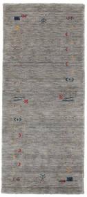 Gabbeh Loom Frame - Harmaa Matto 80X200 Moderni Käytävämatto Vaaleanharmaa/Tummanharmaa (Villa, Intia)