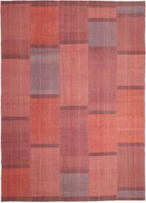 Kelim Moderni Matto 209X298 Moderni Käsinkudottu Ruoste/Tummanpunainen (Villa, Persia/Iran)
