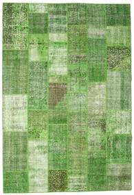 Patchwork Matto 200X297 Moderni Käsinsolmittu Vaaleanvihreä/Pastellinvihreä (Villa, Turkki)