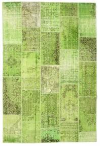 Patchwork Matto 200X298 Moderni Käsinsolmittu Vaaleanvihreä/Oliivinvihreä (Villa, Turkki)