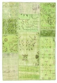 Patchwork Matto 102X150 Moderni Käsinsolmittu Vaaleanvihreä/Oliivinvihreä (Villa, Turkki)