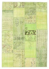 Patchwork Matto 161X233 Moderni Käsinsolmittu Vaaleanvihreä (Villa, Turkki)