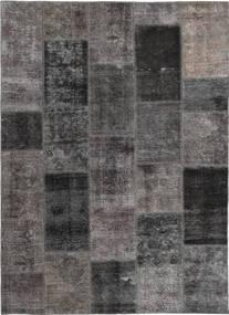 Patchwork Matto 165X237 Moderni Käsinsolmittu Tummanharmaa/Ruskea (Villa, Persia/Iran)