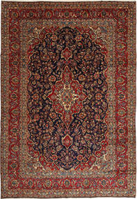 Keshan Matto 250X360 Itämainen Käsinsolmittu Tummanpunainen/Musta Isot (Villa, Persia/Iran)