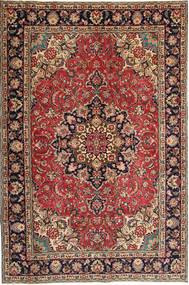 Tabriz Patina Matto 190X295 Itämainen Käsinsolmittu Tummanpunainen/Tummanruskea (Villa, Persia/Iran)