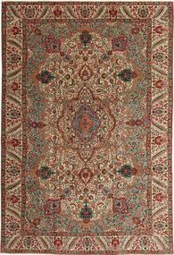 Tabriz Patina Matto 217X323 Itämainen Käsinsolmittu Tummanruskea/Vaaleanruskea (Villa, Persia/Iran)