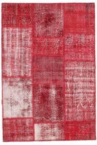 Patchwork Matto 122X181 Moderni Käsinsolmittu Punainen/Ruoste (Villa, Turkki)