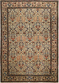 Tabriz Patina Matto 238X338 Itämainen Käsinsolmittu Ruskea/Tummanharmaa (Villa, Persia/Iran)