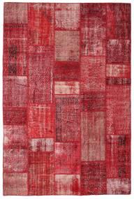 Patchwork Matto 201X305 Moderni Käsinsolmittu Punainen/Ruoste (Villa, Turkki)