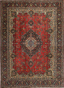 Tabriz Patina Matto 275X380 Itämainen Käsinsolmittu Tummanpunainen/Tummanruskea Isot (Villa, Persia/Iran)