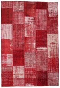 Patchwork Matto 202X300 Moderni Käsinsolmittu Punainen/Tummanpunainen (Villa, Turkki)