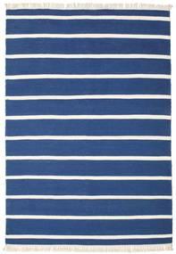 Dorri Stripe - Tummansininen Matto 160X230 Moderni Käsinkudottu Tummansininen/Sininen (Villa, Intia)