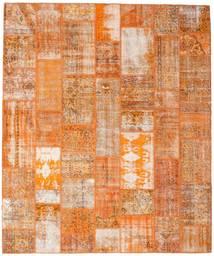 Patchwork Matto 253X304 Moderni Käsinsolmittu Vaaleanruskea/Oranssi Isot (Villa, Turkki)