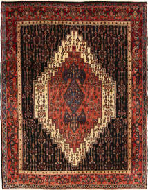Senneh Matto 122X163 Itämainen Käsinsolmittu Tummanruskea/Tummanpunainen (Villa, Persia/Iran)