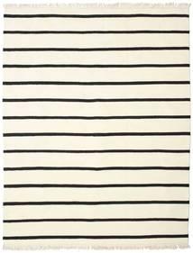 Dorri Stripe - Valkoinen/Musta Matto 200X250 Moderni Käsinkudottu Beige/Valkoinen/Creme (Villa, Intia)