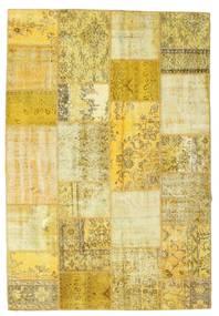 Patchwork Matto 160X233 Moderni Käsinsolmittu Keltainen/Oliivinvihreä (Villa, Turkki)