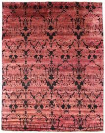 Damask Matto 241X305 Moderni Käsinsolmittu Tummanpunainen/Ruoste ( Intia)