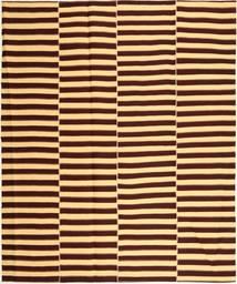 Kelim Moderni Matto 222X265 Moderni Käsinkudottu Tummanruskea/Tummanbeige (Puuvilla, Persia/Iran)