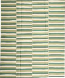 Kelim Moderni Matto 223X270 Moderni Käsinkudottu Vaaleanvihreä/Beige (Puuvilla, Persia/Iran)