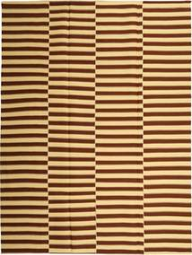 Kelim Moderni Matto 230X310 Moderni Käsinkudottu Tummanruskea/Tummanbeige (Puuvilla, Persia/Iran)