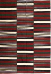 Kelim Moderni Matto 170X244 Moderni Käsinkudottu Tummanpunainen/Musta (Puuvilla, Persia/Iran)