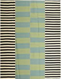 Kelim Moderni Matto 235X304 Moderni Käsinkudottu Pastellinvihreä/Vaaleanvihreä (Puuvilla, Persia/Iran)