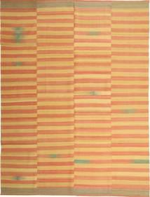 Kelim Moderni Matto 222X295 Moderni Käsinkudottu Vaaleanruskea/Tummanbeige (Villa, Persia/Iran)