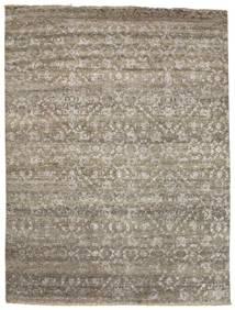 Damask Matto 232X308 Moderni Käsinsolmittu Vaaleanharmaa/Vaaleanruskea ( Intia)