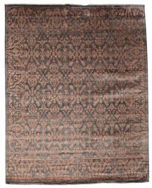 Damask Matto 232X292 Moderni Käsinsolmittu Tummanruskea/Ruskea ( Intia)