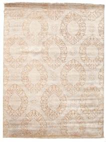 Damask Matto 230X307 Moderni Käsinsolmittu Beige/Vaaleanharmaa ( Intia)
