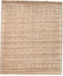 Damask Matto 253X305 Moderni Käsinsolmittu Vaaleanruskea/Ruskea Isot ( Intia)