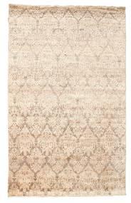 Damask Matto 169X270 Moderni Käsinsolmittu Beige/Keltainen ( Intia)
