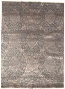 Damask Matto 176X243 Moderni Käsinsolmittu Vaaleanharmaa/Tummanharmaa ( Intia)