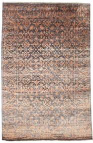 Damask Matto 165X252 Moderni Käsinsolmittu Vaaleanharmaa/Tummanpunainen ( Intia)