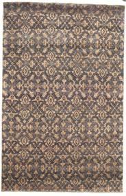 Damask Matto 170X263 Moderni Käsinsolmittu Vaaleanharmaa/Vaaleanruskea ( Intia)