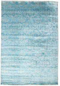 Damask Matto 204X299 Moderni Käsinsolmittu Vaaleansininen/Siniturkoosi ( Intia)