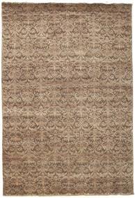 Damask Matto 207X304 Moderni Käsinsolmittu Ruskea/Vaaleanruskea ( Intia)