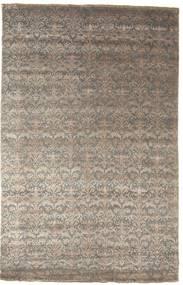 Damask Matto 195X305 Moderni Käsinsolmittu Vaaleanharmaa/Tummanharmaa ( Intia)