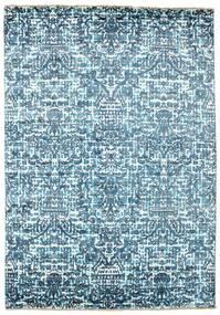 Damask Matto 170X244 Moderni Käsinsolmittu Vaaleansininen/Sininen ( Intia)