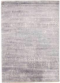 Damask Matto 175X246 Moderni Käsinsolmittu Vaaleanharmaa/Beige ( Intia)