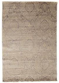 Damask Matto 165X242 Moderni Käsinsolmittu Vaaleanharmaa ( Intia)