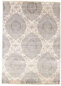 Damask Matto 171X244 Moderni Käsinsolmittu Vaaleanharmaa/Beige ( Intia)